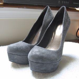 Zigi Soho Keira Grey Suede Leather Platform